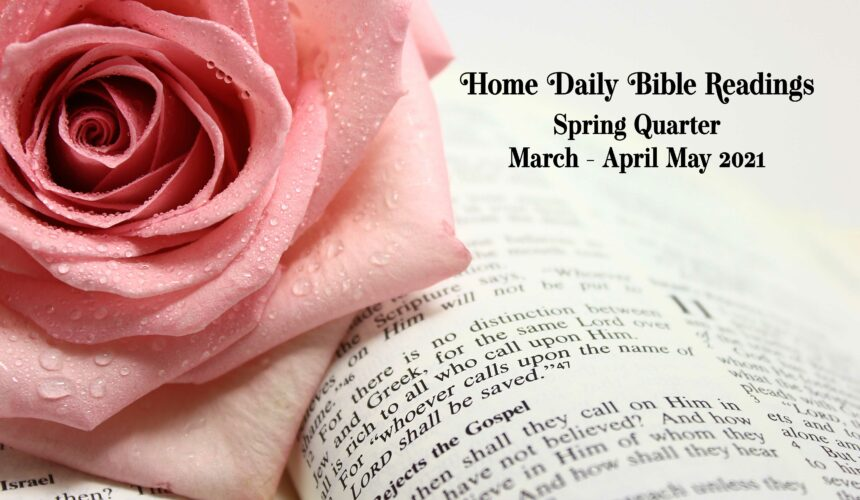 March-May 2021 Home Daily Bible Readings